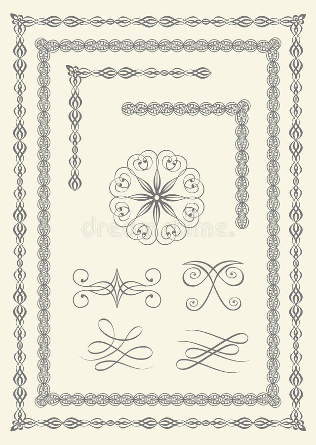 Download Borders and emblems stock vector. Illustration of intricates - 16209805