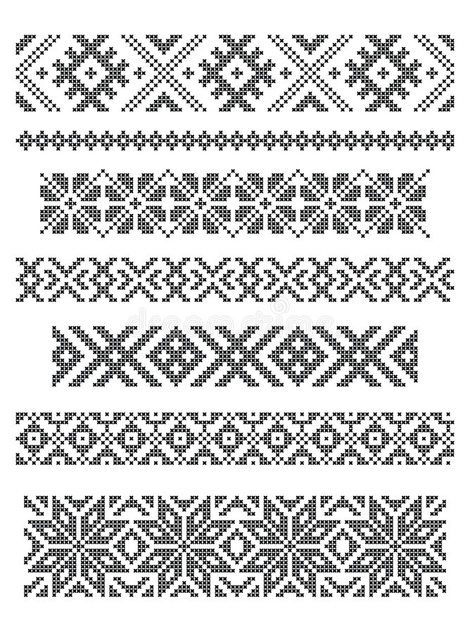 Download Borders, embroidery stock vector. Image of flake, fancy - 6972810