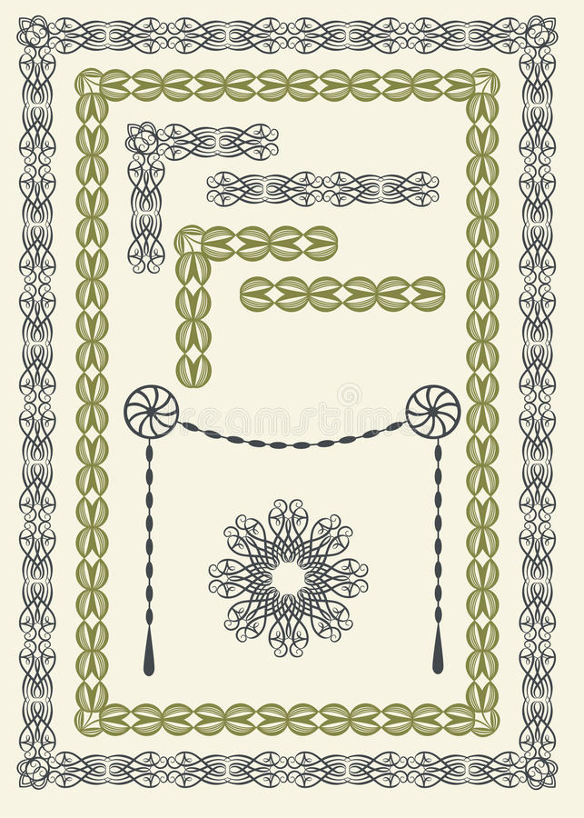 Download Borders and frames stock vector. Illustration of calligraphy - 18992801