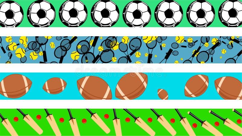 borders sporten royaltyfri illustrationer