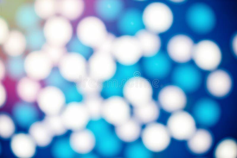 Bordes borrosos de los globos coloridos, luces que oscilan para el fondo del bokeh imagenes de archivo