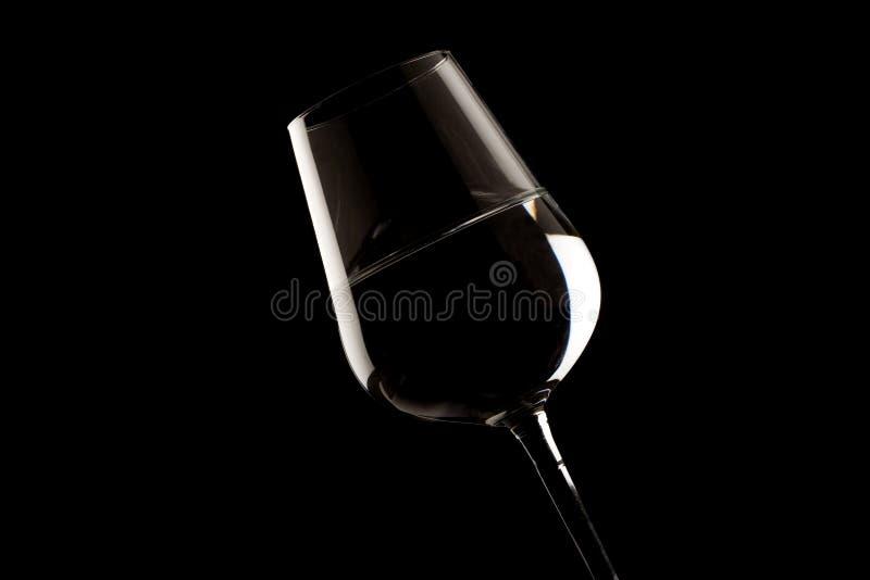 Bordes destacados del vidrio de vino fotos de archivo