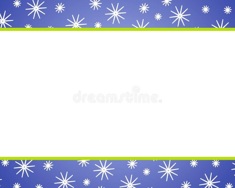 Bordi blu della neve di natale illustrazione vettoriale