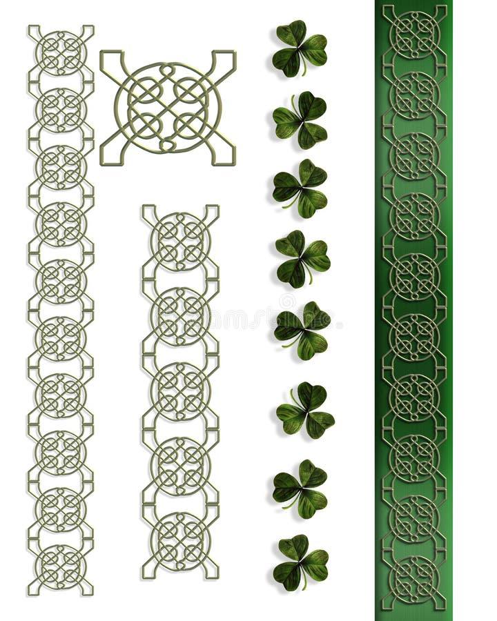 Bordi celtici irlandesi di giorno della st Patricks illustrazione vettoriale