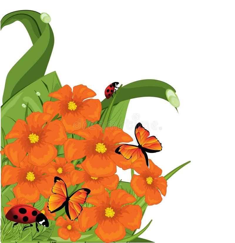 Bordi del fiore royalty illustrazione gratis