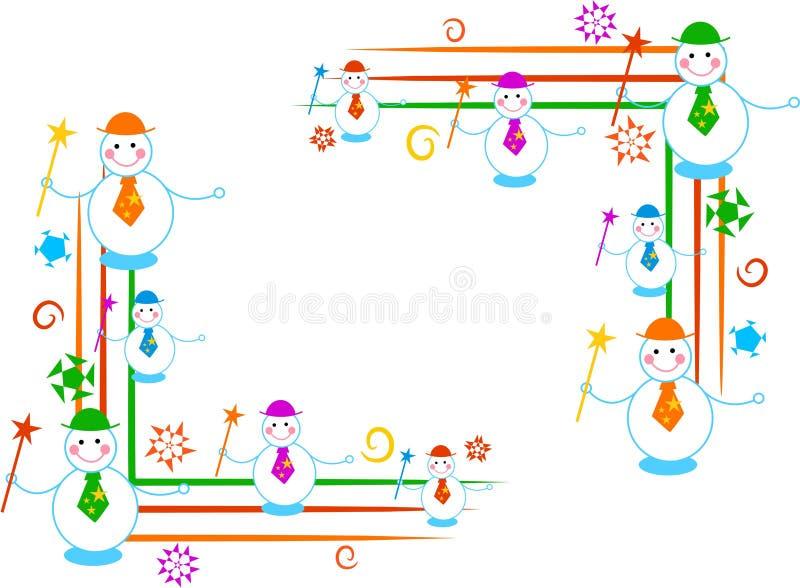 Bordi del pupazzo di neve royalty illustrazione gratis