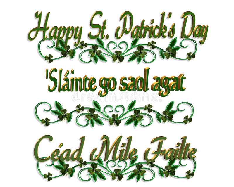 Bordi dell'Irlandese di giorno della st Pattys illustrazione di stock