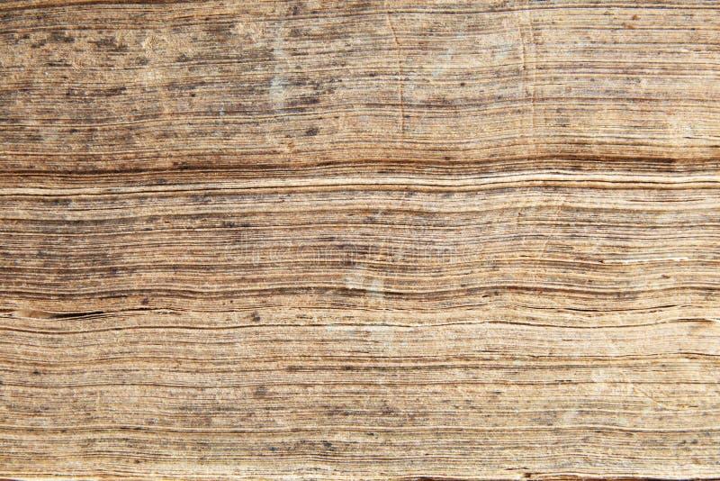 Bordi delle pagine antiche del libro immagini stock