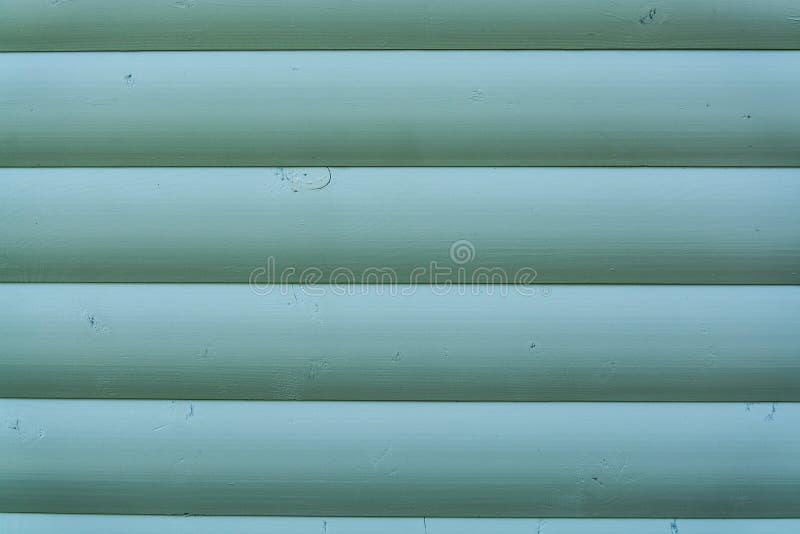 Bordi di legno dipinti nel verde fotografia stock libera da diritti