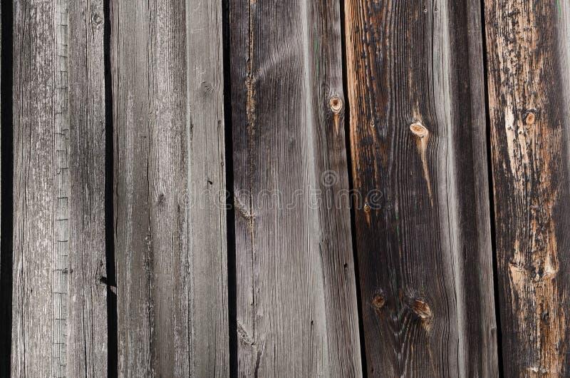 bordi di legno scuri con i punti marroni e grigi fotografia stock