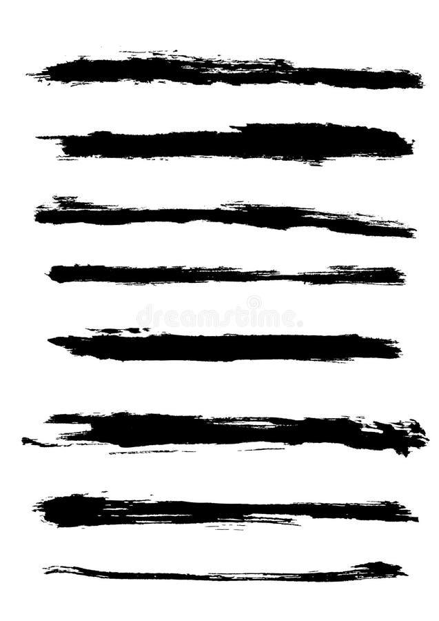 Bordi di vettore di Grunge illustrazione vettoriale
