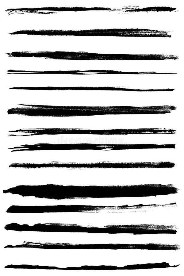 Bordi di vettore di Grunge royalty illustrazione gratis