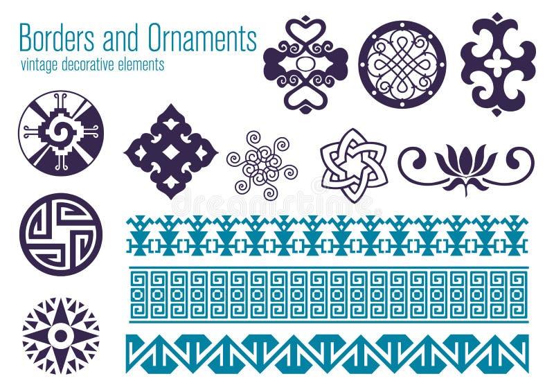 Bordi ed ornamenti royalty illustrazione gratis