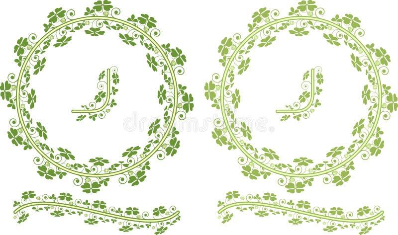 Bordi floreali del trifoglio royalty illustrazione gratis