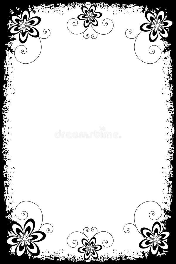 Bordi floreali di Grunge illustrazione di stock