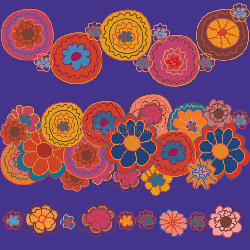 Bordi luminosi floreali illustrazione di stock