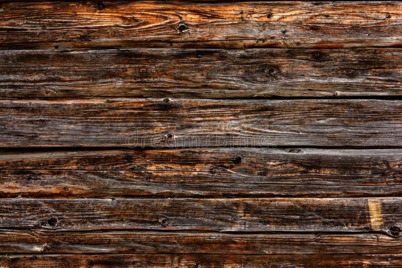 Bordi orizzontali di colore scuro, parete, struttura fotografia stock libera da diritti