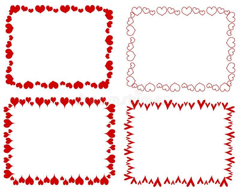 Bordi rossi decorativi dei cuori di rettangolo for Bordi decorativi