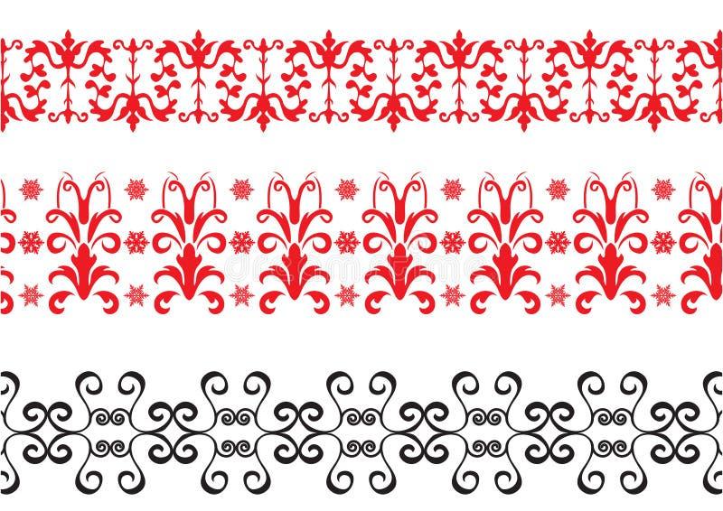 Bordi rossi e neri illustrazione di stock
