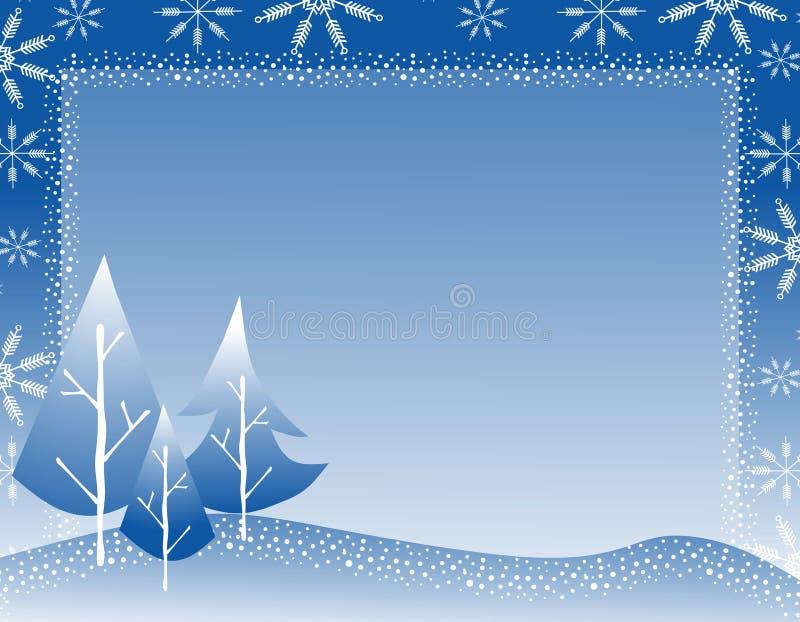 Bordo 2 del fiocco di neve dell'albero di inverno illustrazione vettoriale