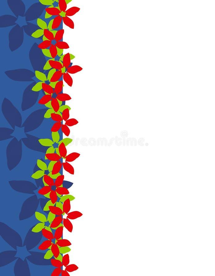 Bordo 2 della pagina del Poinsettia di natale illustrazione di stock