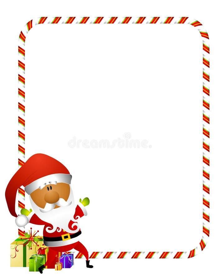 Bordo 2 della Santa della canna di caramella illustrazione di stock
