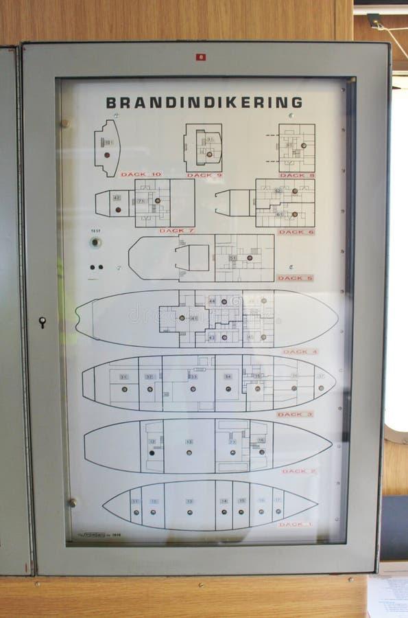 A bordo ai rompighiaccio in Luleå immagine stock libera da diritti