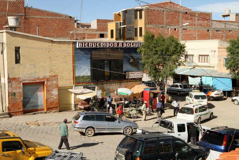 Bordo Argentina-Boliviano immagine stock