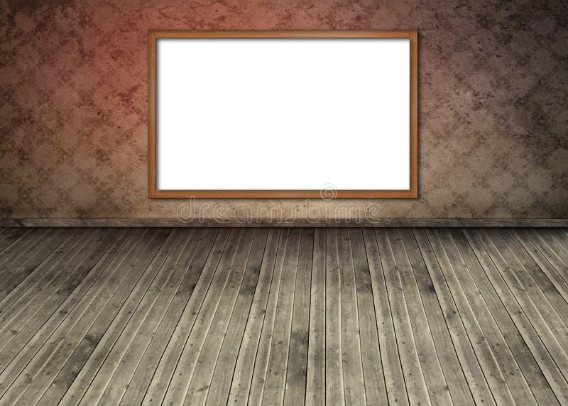 Bordo bianco dello spazio della copia appeso sulla parete illustrazione vettoriale