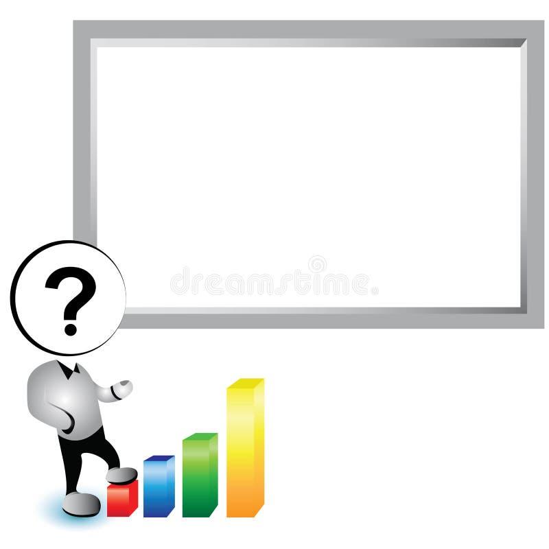 Bordo bianco di presentazione illustrazione di stock