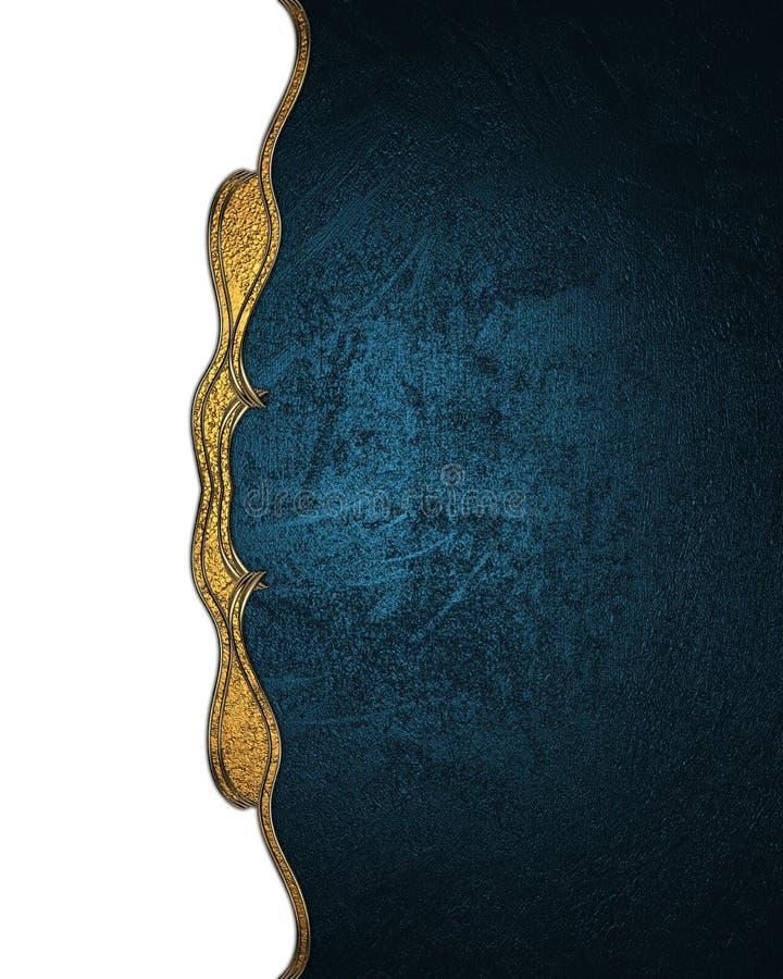 Bordo bianco di un modello antico con struttura blu Elemento per progettazione Mascherina per il disegno copi lo spazio per l'opu immagine stock libera da diritti