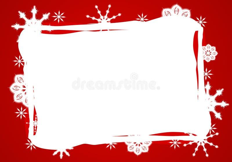 Bordo bianco rosso del fiocco di neve illustrazione di stock