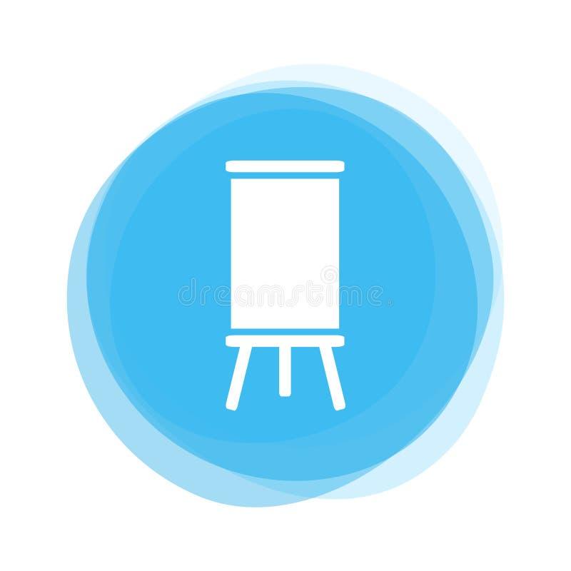 Bordo bianco sul bottone blu-chiaro royalty illustrazione gratis