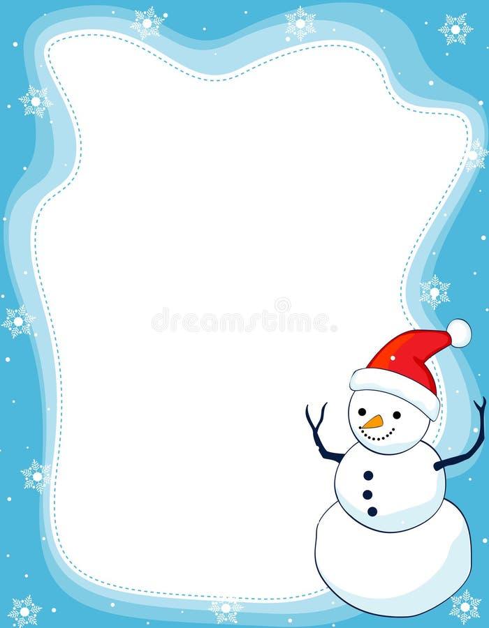 Bordo/blocco per grafici del pupazzo di neve royalty illustrazione gratis