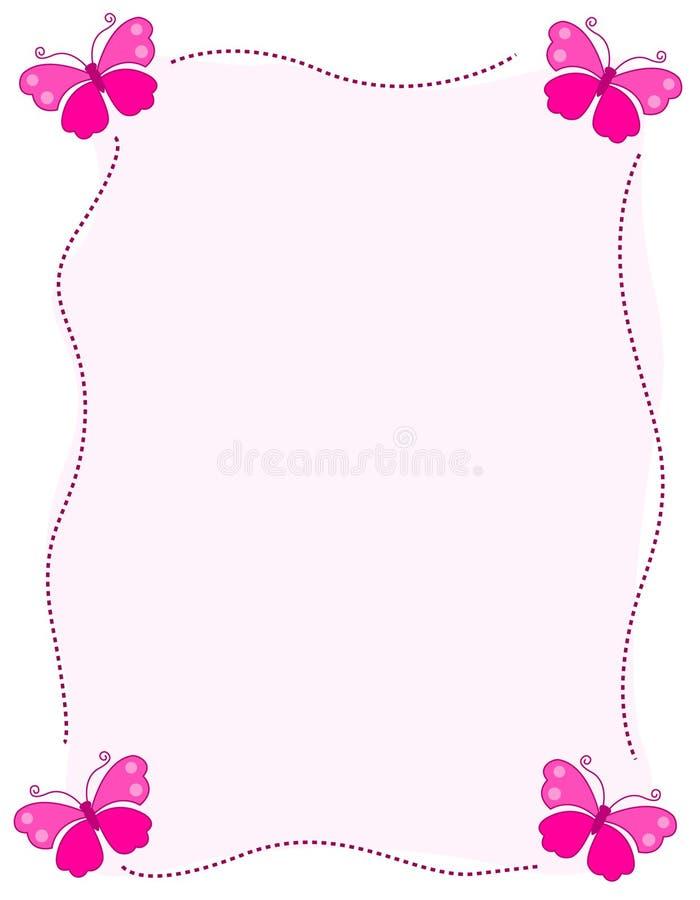 Bordo/blocco per grafici della farfalla illustrazione di stock