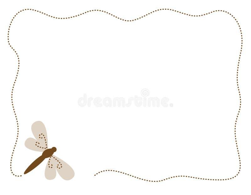 Bordo/blocco per grafici della libellula illustrazione vettoriale