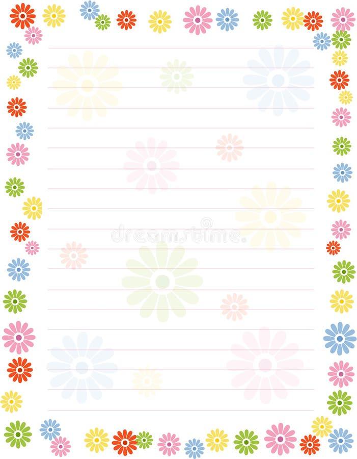 Bordo/blocco per grafici floreali royalty illustrazione gratis