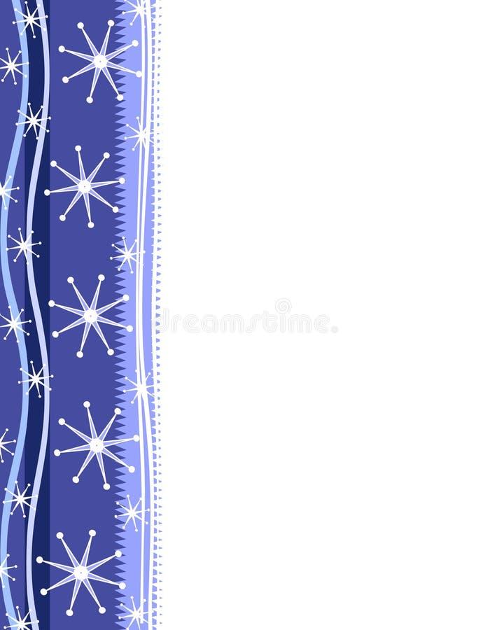Bordo blu della pagina del fiocco di neve royalty illustrazione gratis