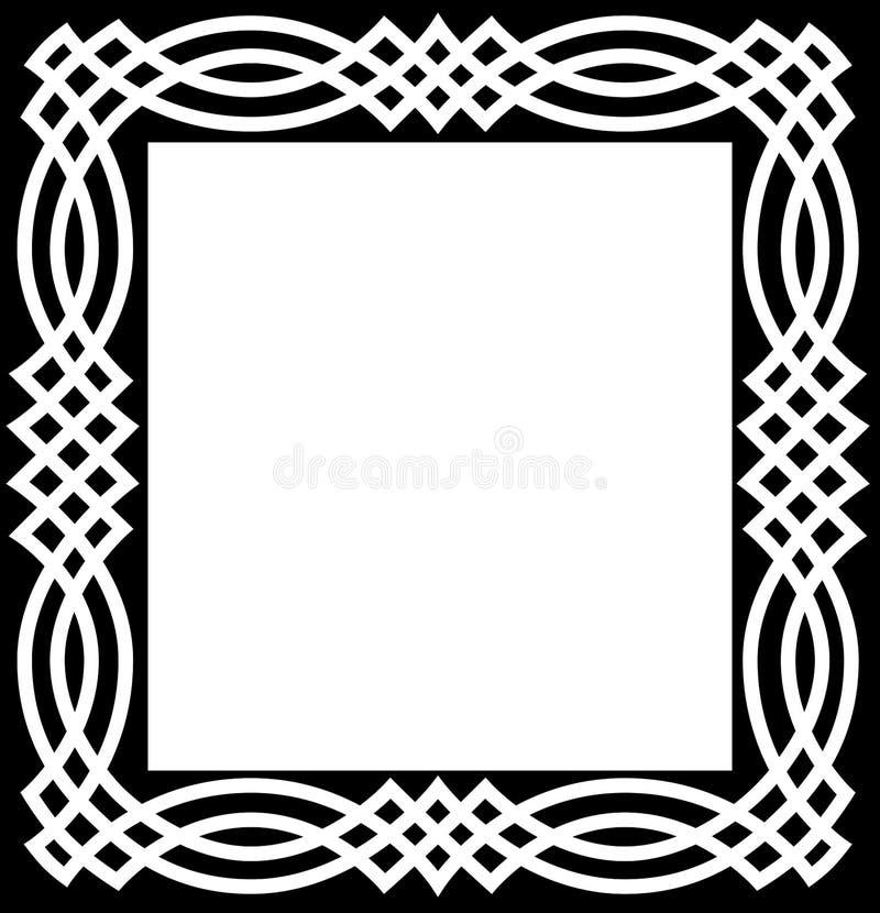 Bordo celtico del nodo illustrazione di stock