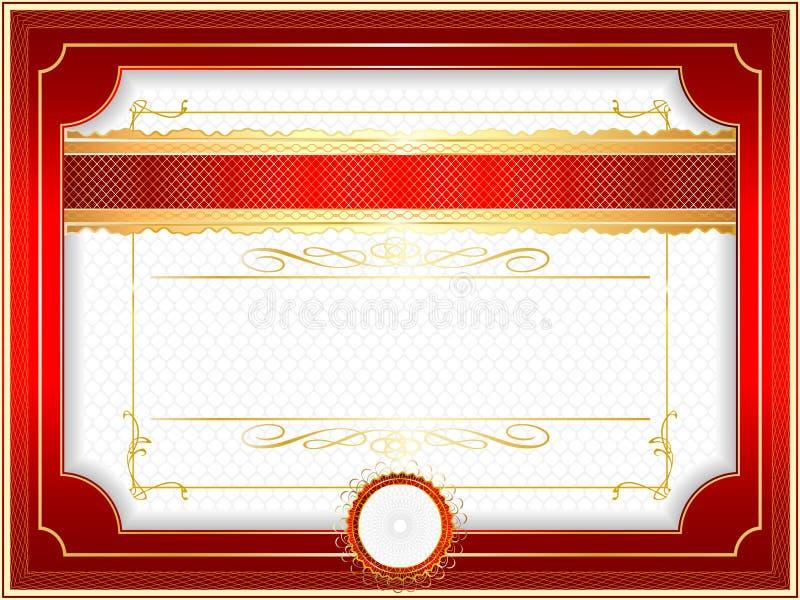 Bordo classico della rabescatura per il diploma o il certificato illustrazione di stock