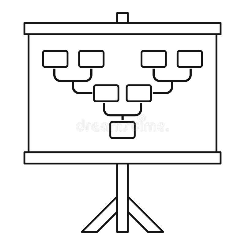 Bordo con l'icona di schema del campo di football americano o di calcio illustrazione vettoriale