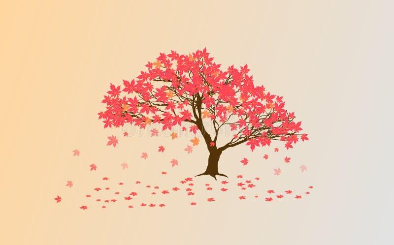 Bordo de Autumn Japanese ilustração stock
