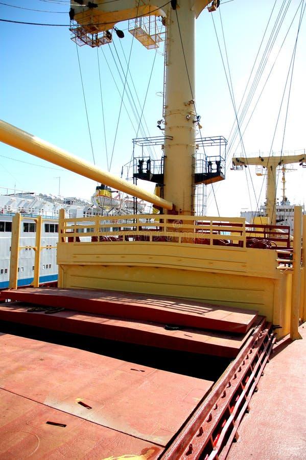 A bordo de un buque de carga fotografía de archivo libre de regalías