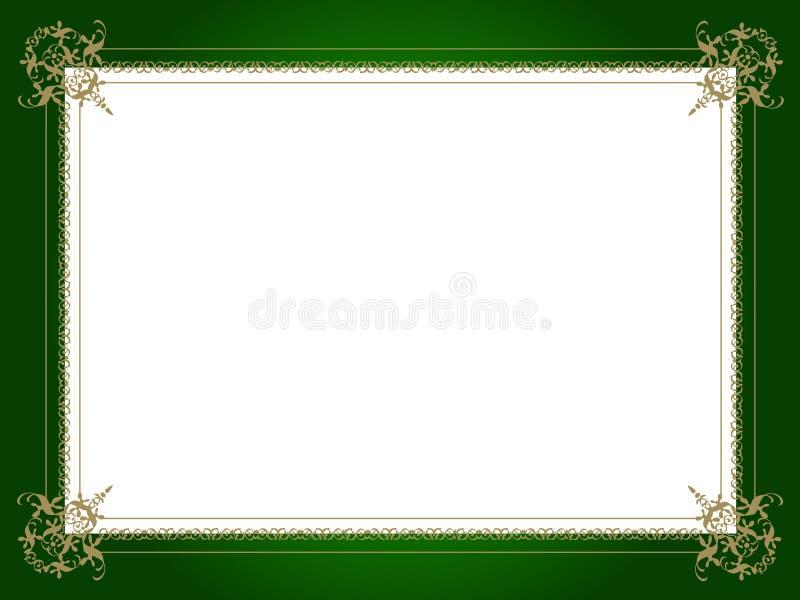 Bordo decorativo dorato illustrazione vettoriale