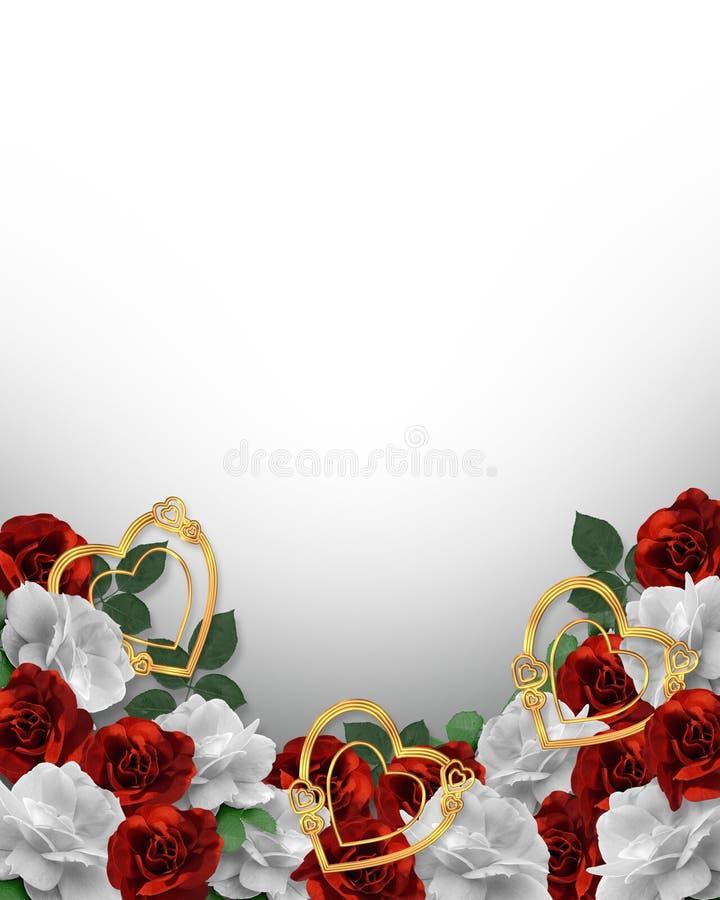 Bordo dei cuori e delle rose di giorno dei biglietti di S. Valentino royalty illustrazione gratis