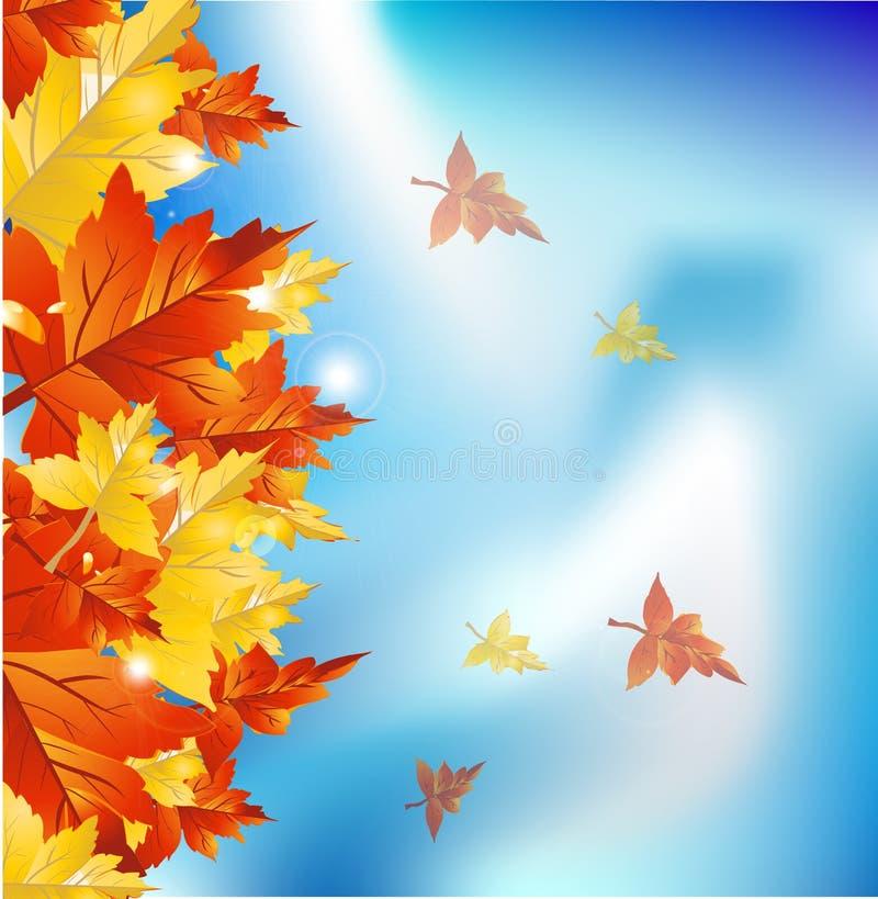 Bordo dei fogli di autunno illustrazione di stock