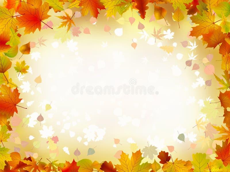 Bordo dei fogli di autunno per il vostro testo. illustrazione di stock