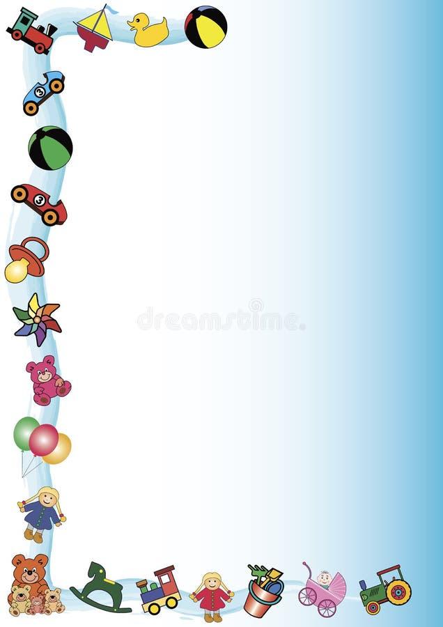 Bordo dei giocattoli illustrazione di stock