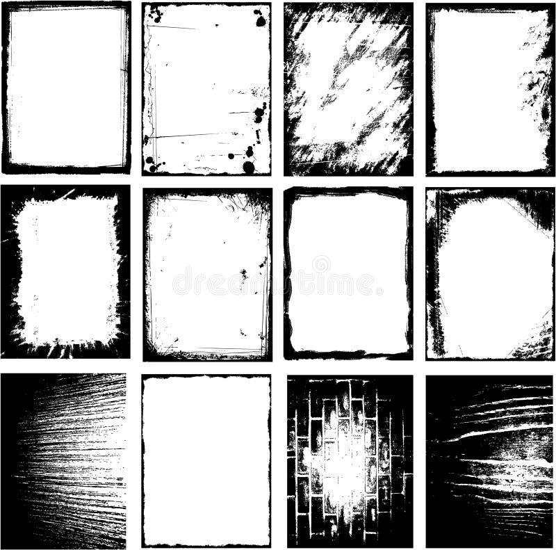 Bordo del blocco per grafici di Grunge royalty illustrazione gratis