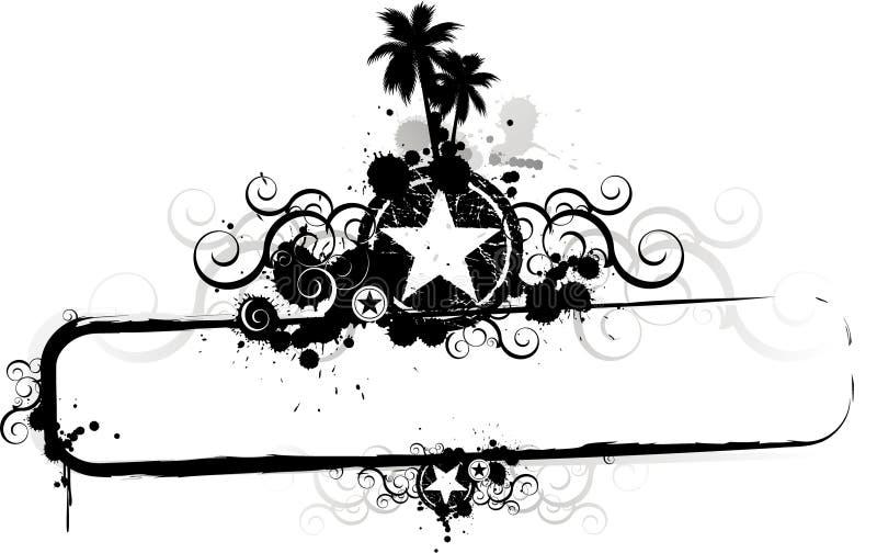 Bordo del blocco per grafici di Grunge di estate illustrazione vettoriale